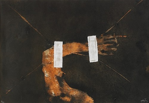 1981 Empreinte etching, collage.jpg